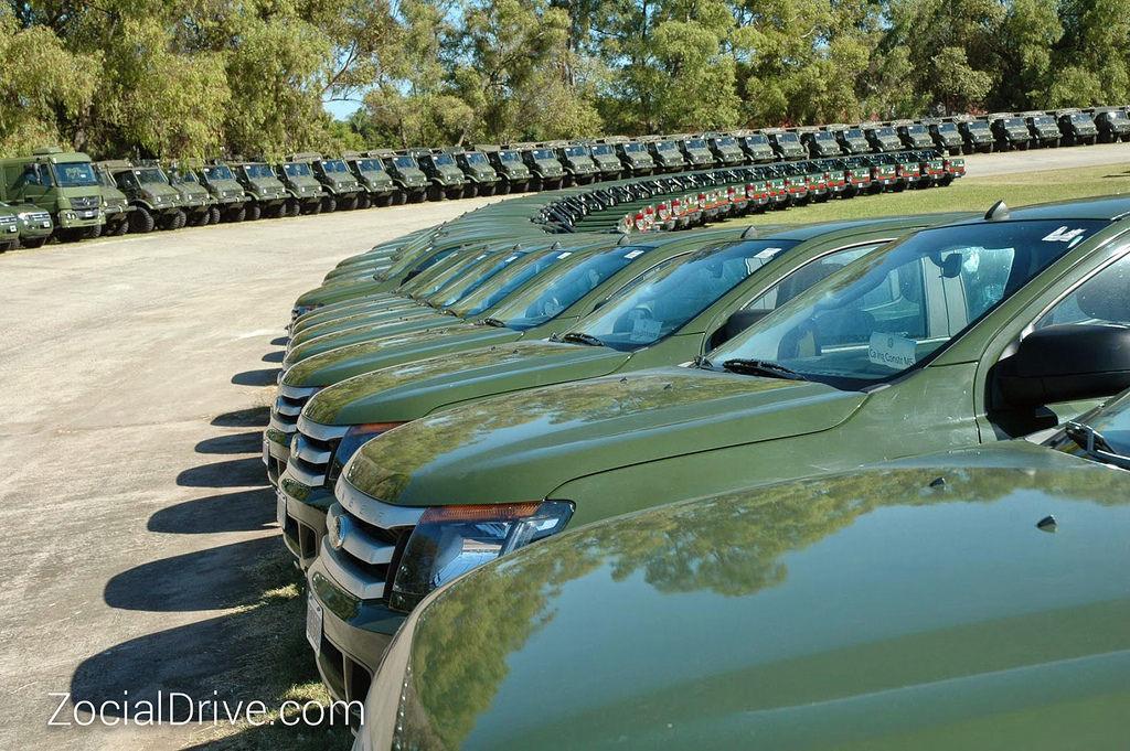 Ford Ranger ถูกเลือกเป็นยานพาหนะสำหรับหน่วยสนับสนุน ของกองทัพอาร์เจนตินา