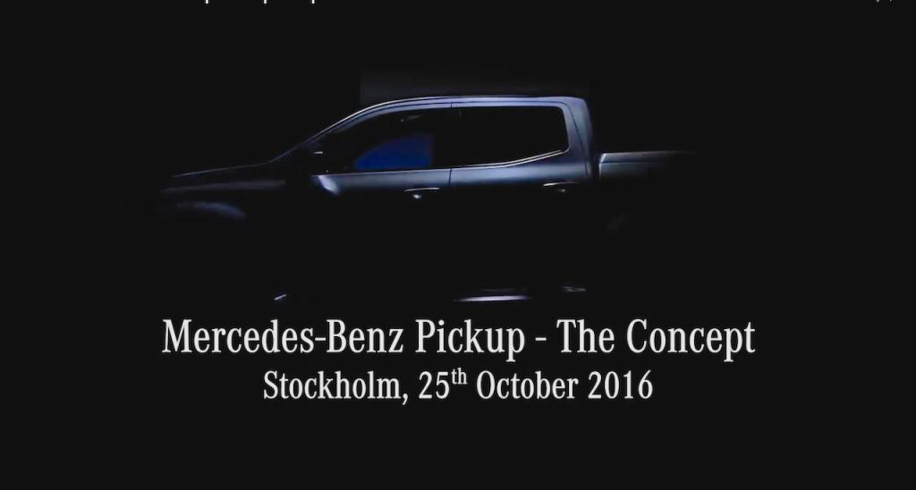 "Mercedes-Benz เตรียมเปิดตัว ""รถกระบะ"" ตัวต้นแบบ วันที่ 25 ตุลาคมนี้"