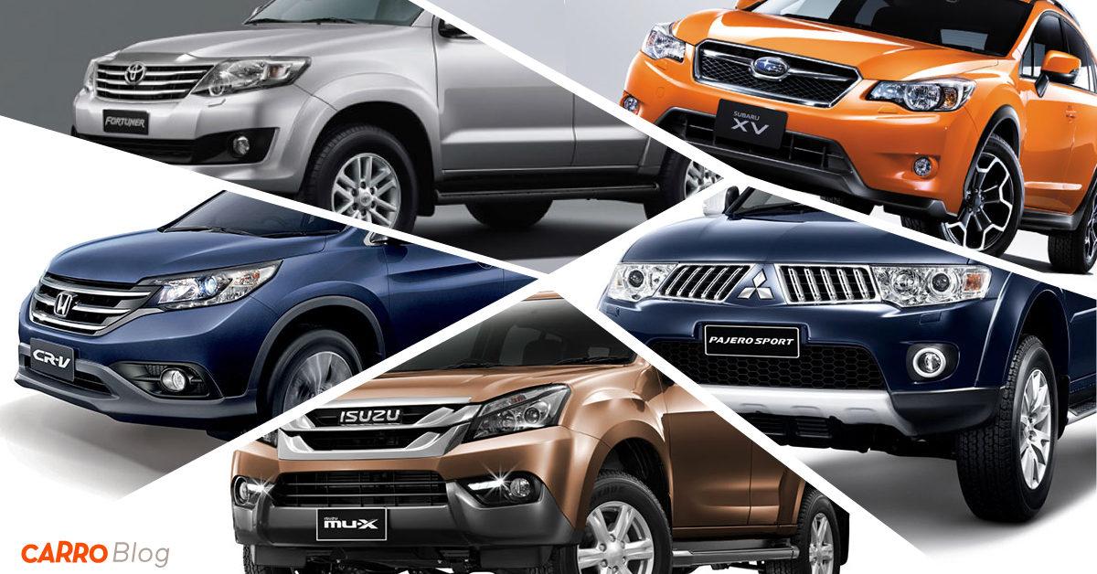 รถเอนกประสงค์ 4WD มือสอง 5 รุ่น น่าซื้อน่าใช้ สำหรับนักลุย! ในงบไม่เกินล้าน!